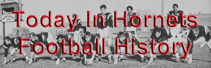 Previous Today in Hornets Footall History